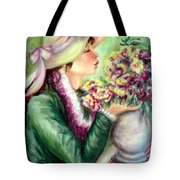 Bonnet Of Flowers Tote Bag