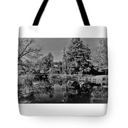 Bonneyville Grist Mill          Black And White        Autumn        Indiana Tote Bag