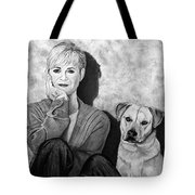 Bonnie Hunt And Charlie Tote Bag