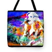 Bonnie Raitt Color Splash Tote Bag