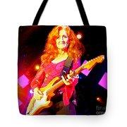Bonnie Raitt In Concert Watercolor Tote Bag