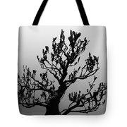 Bonsai Black And White Tote Bag