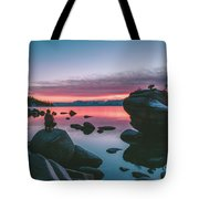 Bonsai Rock Sunset Tote Bag