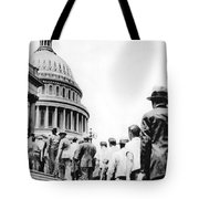 Bonus Army Marchers, 1932 Tote Bag