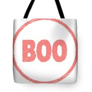 Boo Rubber Stamp Tote Bag