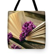 Book And Flower Tote Bag