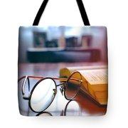 Book And Glasses Tote Bag