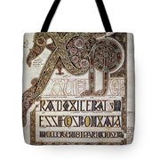 Book Of Lindisfarne Initial Tote Bag