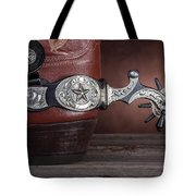 Boot Heel With Texas Spur Tote Bag
