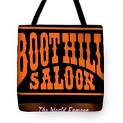 Boot Hill Saloon Sign Tote Bag