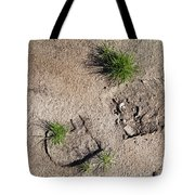 Boot Print In The Desert Tote Bag