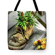 Booted Plant Tote Bag
