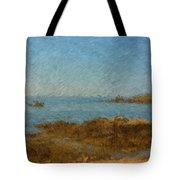 Boothbay Calm Day Ocean View Tote Bag