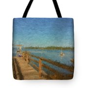 Boothbay Front Ocean View At Sunrise Tote Bag