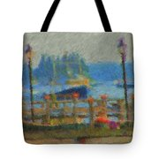 Boothbay Harbor At 8 Tote Bag