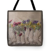 Boots And Flowers Tote Bag