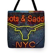 Boots And Saddle Nyc Tote Bag