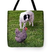 Border Collie Herding Chicken Tote Bag