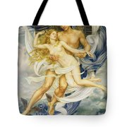 Boreas And Oreithyia Tote Bag by Evelyn De Morgan