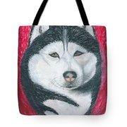 Boris The Siberian Husky Tote Bag