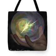 Born To Create - View With Or Without Red-cyan 3d Glasses Tote Bag