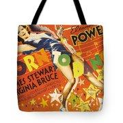 Born To Dance 1936 Retro Movie Poster Tote Bag