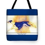Borzoi Blue Flight Tote Bag