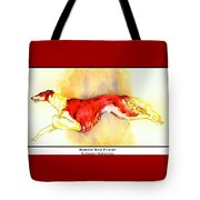 Borzoi Red Flight Tote Bag
