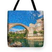 Bosnia Mostar Herzegovina Europe Travel Landmark Tote Bag