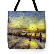 Bosphorus Sunset Art Tote Bag