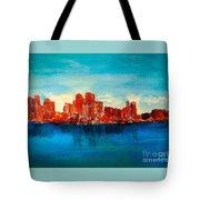 Boston Abstract Tote Bag