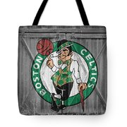 Boston Celtics Barn Doors Tote Bag
