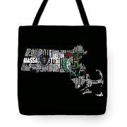 Boston Celtics Typographic Map Tote Bag