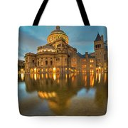 Boston Christian Science Building Reflecting Pool Tote Bag