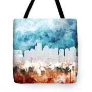 Boston City Skyline Watercolor 2 Tote Bag