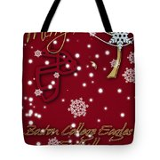 Boston College Eagles Christmas Card Tote Bag