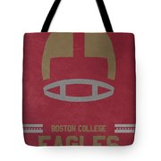 Boston College Eagles Vintage Football Art Tote Bag