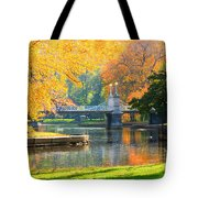 Fall Season At Boston Common Tote Bag