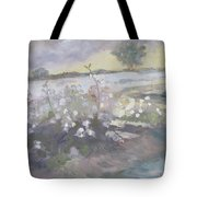 Boston Cotton Fields Tote Bag