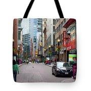 Boston Downtown Crossing Tote Bag
