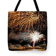 Boston Fireworks On The Charles Tote Bag
