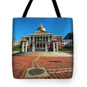 Boston Freedom Trail To State House Boston Ma Tote Bag