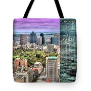 Boston From Above Tote Bag