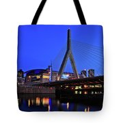 Boston Garden And Zakim Bridge Tote Bag by Rick Berk