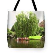Boston Garden Swan Boat Tote Bag