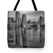 Boston Habor Sunrise Bw Tote Bag
