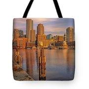 Boston Habor Sunrise Tote Bag
