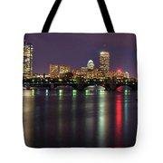 Boston Harbor Nights-panorama Tote Bag by Joann Vitali