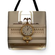 Boston Historical Meeting Room Clock Tote Bag