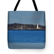 Boston Light And Great Brewster Island Tote Bag